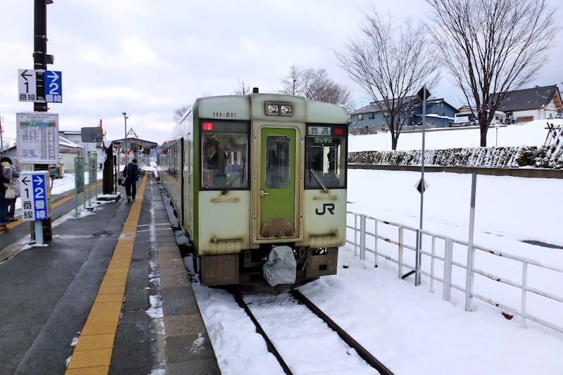 飯山線 戸狩野沢温泉駅