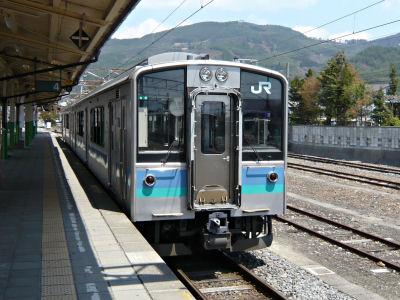 信濃大町駅にて大糸線