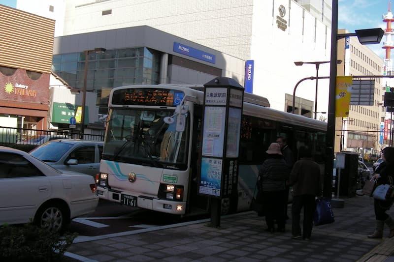 東武駅前 バス停