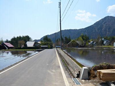上原の湯への道