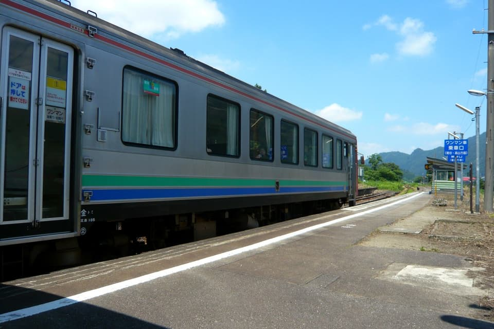 楡原駅にて高山本線